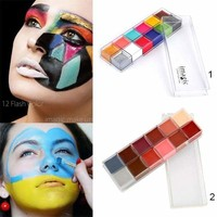 12 Colors Flash Tattoo Face Body Oil Painting Art Halloween Party Beauty Makeup Tool Body Paint For Cool Cosplay Tool HB88 Macchar Cosplay Catalogue