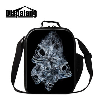 personalized design punk skull lunch bag for women new fashion portable insulated lunch bags and cooler bags lunch box for kids