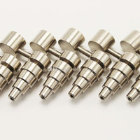 Domeless Titanium Hash Oil Dabbing Nail 14, 16, and 18mm Female/Male Joint W/ Design Options