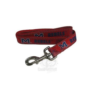 DCCKT9W Ole Miss Rebels Pet Reflective Nylon Leash
