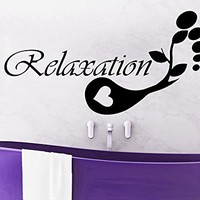 Relaxation Wall Decal Vinyl Sticker Decals Beauty Salon Spa Relax Home Decor Bathroom Interior Design C488
