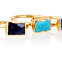 Lapis, Turq & Azurite Ring Set, Stone & Novelty Rings