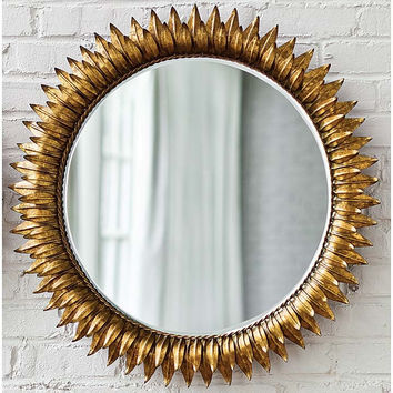 Regina Andrew Round Sun Mirror Antique Gold - 405-049-G