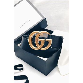 Free Shipping-GUCCI Classic Double G Buckle Joker Belt