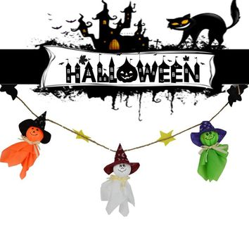 Halloween Ghost String Flag Pumpkin Garland Ornaments Haunted House Decorations  New Arrival Dropshipping