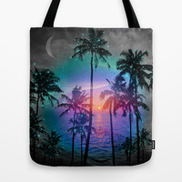 Run Away In Your Dreams (Palm Tree Paradise) Tote Bag by soaring anchor designs ⚓ | Society6