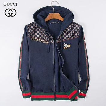 Boys & Men GUCCI Bee Fashion Casual Cardigan Jacket Coat Hoodie