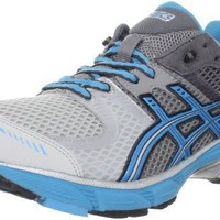 ASICS Men's GEL-DS Trainer 17 Running Shoe, Lightning/Hot Blue/Black, 10.5 M US