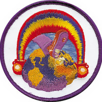Grateful Dead Iron-On Patch Rainbow Foot Logo