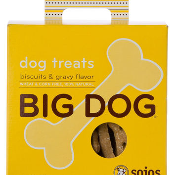 Sojos Big Dog Biscuits & Gravy Natural Grain-Free Treats 12 oz