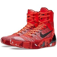 Nike Kobe IX 9 Elite Strategy Knit Stocking 630847-600 Crimson Flyknit Men's Shoes  Nike kobe