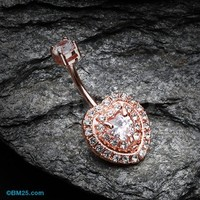 Rose Gold Heart Essentia Belly Button Ring