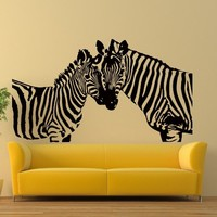 Vinyl Wall Decals Zebras African Animal Horse Decal Sticker Home Interior Decor Art Mural Z708