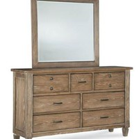 2760 Brownstone Village - Complete Dresser With Mirror