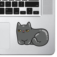 "Cartoon Cat Kitten Keyboard, Keypad Vinyl Decal Sticker - Skin Track Pad MacBook Pro Air 13"" 15"" 17"" Apple iPad Grumpy Cat Laptop"
