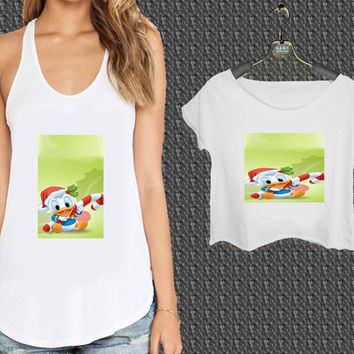 Disney Cartoon Christmas For Woman Tank Top , Man Tank Top / Crop Shirt, Sexy Shirt,Cropped Shirt,Crop Tshirt Women,Crop Shirt Women S, M, L, XL, 2XL*NP*