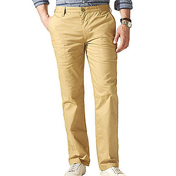 Dockers D2 Marina On The Go Straight Fit Flat-Front Pants - Toasted Ca