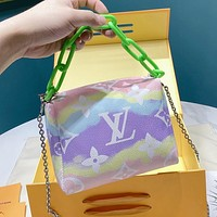 Louis Vuitton LV Tie-Dye Gradient Women's Chain Tote Crossbody Bag