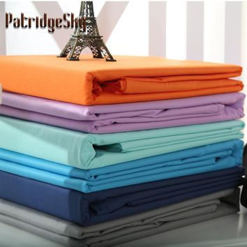 Solid Flat Cotton Sheet Bed 5 Size and 19 Colors Available