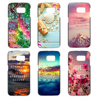 Beautiful scenery Literal phone cover for Samsung Galaxy S3 S4 S4 Mini S5 S5 Mini S6 S6 edge S7 S7 edge case black hard shell