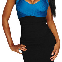 Keep It Real (Blue / Black)-Great Glam is the web's top online shop for trendy clubbin styles, fashionable party dress and bar wear, super hot clubbing clothing, stylish going out shirt, partying clothes, super cute and sexy club fashions, halter and tube