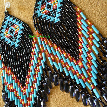 Native American inspired earrings, Roxanne Bird design