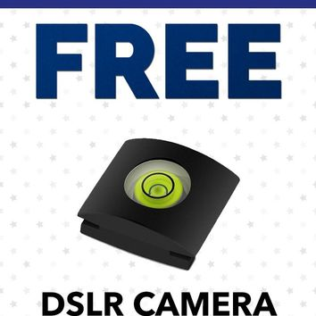 Free Labor Day SC323 Universal DSLR Camera Bubble Level Hot Shoe Protector Gift With Purchase