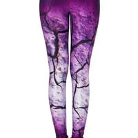ROMWE | Crack View Print Leggings, The Latest Street Fashion