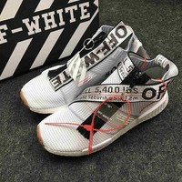 PEAPNO OFF-WHITE x adidas Originals NMD City Sock NMD MID OW Running Sneaker BA7208NMD