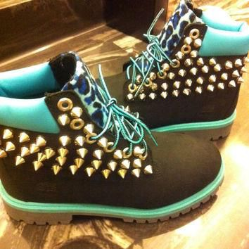 Custom Spiked Timberlands
