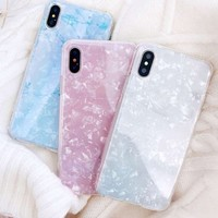 Luxury Conch Shell Soft Phone Case cover For iphone X 8 8plus 7 7Plus 6 6s 6Plus coque fundas for iPhone