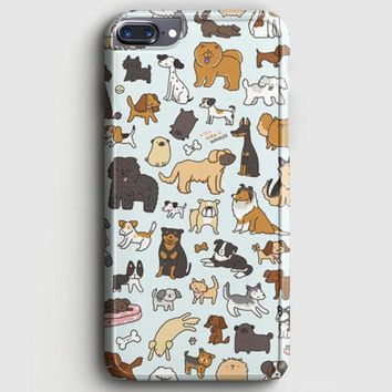 Dog Cute Husky Kawaii Corgi Pattern iPhone 7 Plus Case