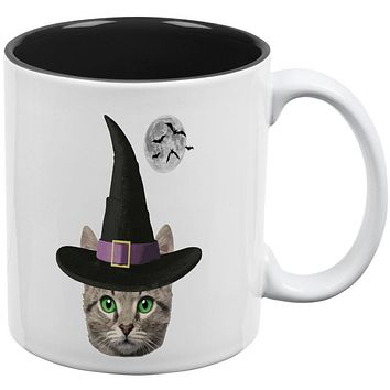 Halloween Funny Cat Witch All Over Coffee Mug