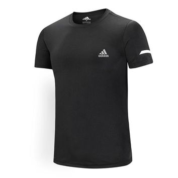 ADIDAS Summer New Casual Sports Round Neck Half Sleeve T-Shirt black