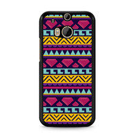 Diamond Aztec Tribal Pattern HTC One | M8 case