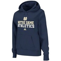 adidas Notre Dame Fighting Irish Women's Practice Hooded Sweatshirt - Navy Blue