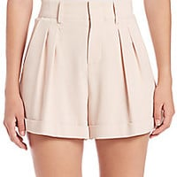 Alice + Olivia - Amani High-Waist Pleated Shorts - Saks Fifth Avenue Mobile