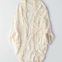 AEO Crochet Cocoon Cardigan, Cream