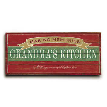 Personalized Italian Kitchen Wood Sign