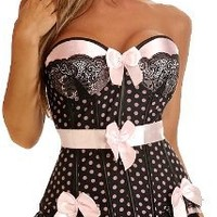 Daisy Corsets Pin-Up Polka Dot Underwire Corset Small