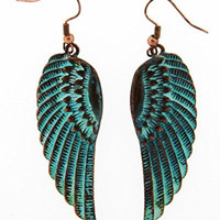 Patina Angel Wing Earrings