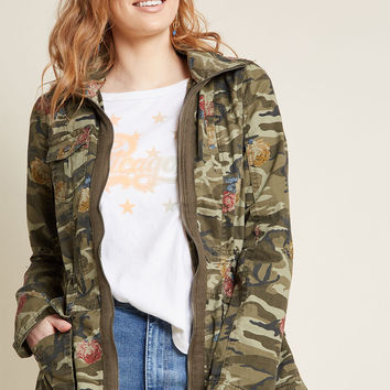 Pattern Person Cotton Anorak Jacket