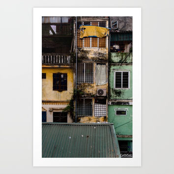 Hanoi houses Art Print by Groissl
