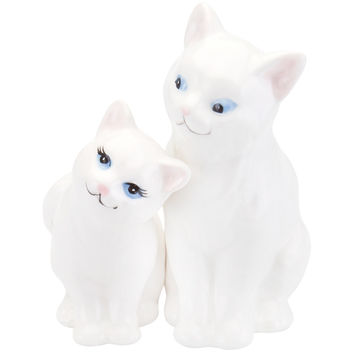 White Kittens Snuggling Salt & Pepper Shakers