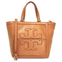 Tory Burch Jessica Mini Square Tote - Luggage