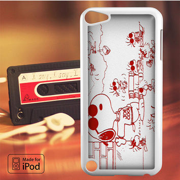 Snoopy Joe Cool Red And White iPod Touch 4 iPod Touch 5 iPod Touch 6 Case