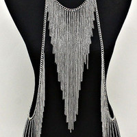Silver  Triangle Tassel Body Chain