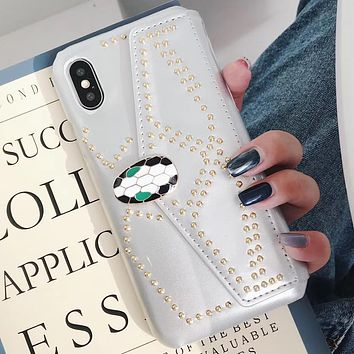 Bvlgari Tide brand snake head card iPhone8plus mobile phone case cover white