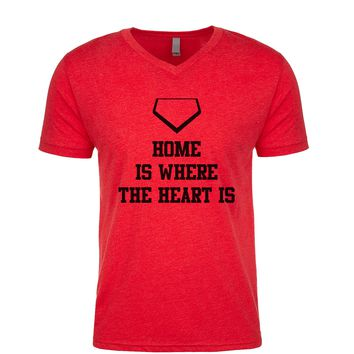 Home Is Where The Heart Is Men's V Neck