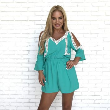 First of Spring Mint Romper